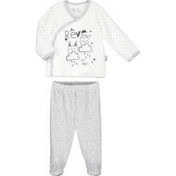 Spodnie niemowlęce: 2-częściowy zestaw w kolorze biało-szarym
