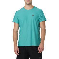 KOSZULKA Asics Short Sleeve Top M Zielono-Niebieska. Niebieskie koszulki sportowe męskie Asics, m, z syntetyku. Za 69,99 zł.