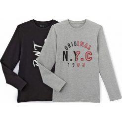 T-shirty chłopięce: Zestaw wzorzystych koszulek, okrągły dekolt