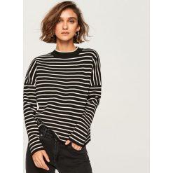 Sweter ze stójką - Czarny. Czarne swetry klasyczne damskie Reserved, l, ze stójką. Za 99,99 zł.