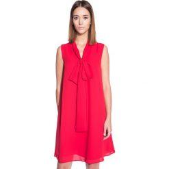Sukienki: Czerwona sukienka typu parasolka BIALCON