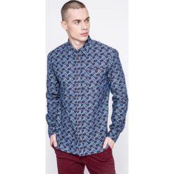 Medicine - Koszula Grand Hotel Budapest. Niebieskie koszule męskie na spinki marki MEDICINE, m, z bawełny, z klasycznym kołnierzykiem, z długim rękawem. W wyprzedaży za 99,90 zł.