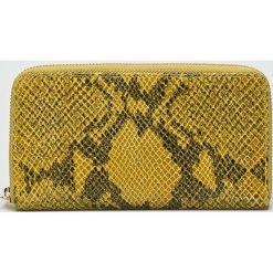 Answear - Portfel skórzany. Brązowe portfele damskie marki ANSWEAR, z materiału. W wyprzedaży za 89,90 zł.