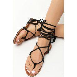 Rzymianki damskie: Czarne Sandały Safiya