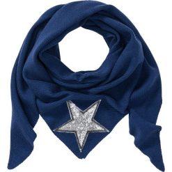 Chusta trójkątna z połyskującą gwiazdą bonprix niebieski. Niebieskie chusty damskie bonprix, na jesień. Za 79,99 zł.