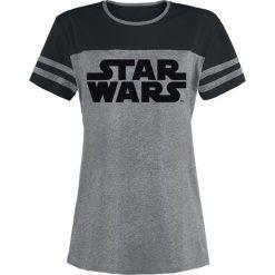 Star Wars Logo Koszulka damska odcienie szarego/czarny. Czarne bluzki na imprezę Star Wars, l, z motywem z bajki, retro, z okrągłym kołnierzem. Za 79,90 zł.