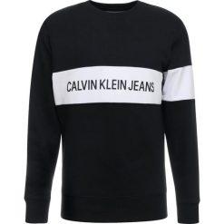 Calvin Klein Jeans STRIPE INSTITUTIONAL  Bluza black. Czarne bluzy męskie Calvin Klein Jeans, m, z bawełny. Za 419,00 zł.