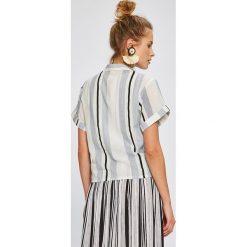 Answear - Koszula Stripes Vibes. Szare koszule damskie marki ANSWEAR, l, z bawełny, casualowe, z krótkim rękawem. W wyprzedaży za 59,90 zł.