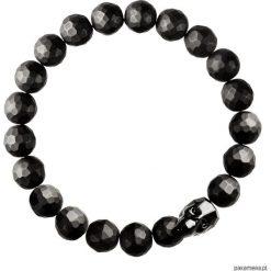 Biżuteria i zegarki: Męska bransoletka onyksy, kryształ SWAROVSKI®