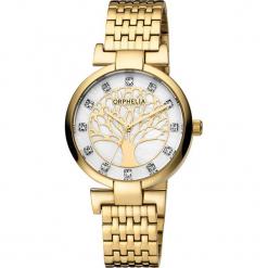 Zegarek kwarcowy w kolorze perłowobiało-złotym. Żółte, analogowe zegarki damskie Esprit Watches, ze stali. W wyprzedaży za 204,95 zł.