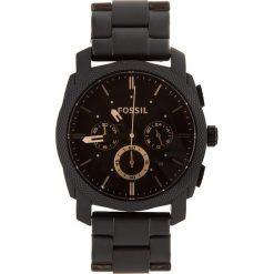 Zegarek FOSSIL - Machine FS4682 Black/Black. Czarne zegarki męskie Fossil, ze stali. Za 719,00 zł.
