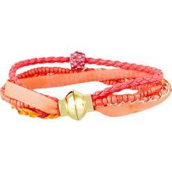 Bransoletki damskie: Bransoletka z kryształkami Swarovski w kolorze pomarańczowym