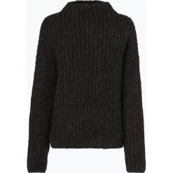 Review - Sweter damski z dodatkiem moheru, czarny. Szare swetry klasyczne damskie marki Review, l, z tkaniny, z okrągłym kołnierzem. Za 179,95 zł.