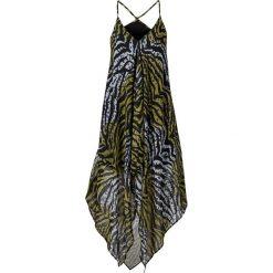 Długie sukienki: Sukienka plażowa bonprix zielono-oliwkowy zebra