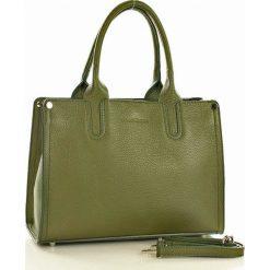 Kuferki damskie: Torebka italian bag kuferek skóra MAZZINI - Monik zielony
