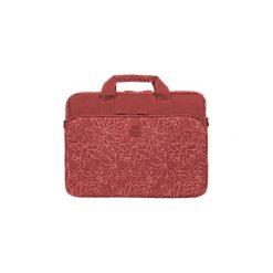 """Torba do laptopa Continent CC-032 15.6"""" czerwona. Czerwone torby na laptopa Continent, w paski, z materiału. Za 60,00 zł."""