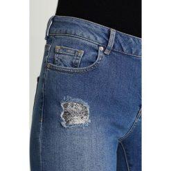 Dorothy Perkins SEQUIN PATCH DARCY  Jeans Skinny Fit blue. Niebieskie jeansy damskie marki Dorothy Perkins, z bawełny. W wyprzedaży za 149,25 zł.