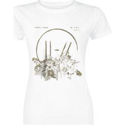 Twenty One Pilots Flower Bed Koszulka damska biały. Białe bluzki z odkrytymi ramionami Twenty One Pilots, s, z nadrukiem, z okrągłym kołnierzem. Za 79,90 zł.