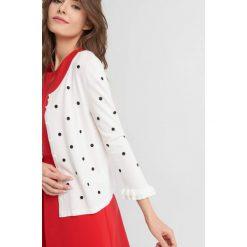 Odzież damska: Sweter w grochy