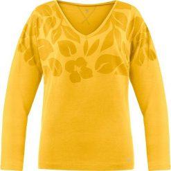 Bluzki damskie: Koszulka w kolorze żółtym