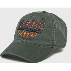 Pepe Jeans - Czapka Sheraz. Szare czapki z daszkiem męskie Pepe Jeans, z bawełny. Za 99,90 zł.