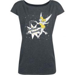 Piotruś Pan Tinker Bell - Follow The Sparkle Koszulka damska odcienie ciemnoszarego. Szare bluzki asymetryczne Piotruś Pan, l, z nadrukiem, z dekoltem w łódkę. Za 79,90 zł.