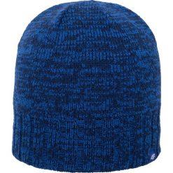 Czapka męska CAM008z - granatowy ciemny. Niebieskie czapki zimowe męskie 4f, na jesień, z materiału. Za 39,99 zł.