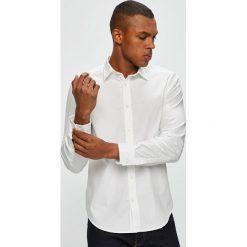 Diesel - Koszula. Szare koszule męskie na spinki Diesel, l, z bawełny, z klasycznym kołnierzykiem, z długim rękawem. W wyprzedaży za 379,90 zł.