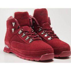 Skórzane buty trekkingowe - Bordowy. Czerwone buty trekkingowe damskie marki House. Za 189,99 zł.