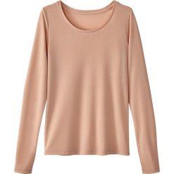 Koszulka z okrągłym dekoltem, z długimi rękawami. Szare bluzki longsleeves marki La Redoute Collections, m, z bawełny, z kapturem. Za 58,76 zł.