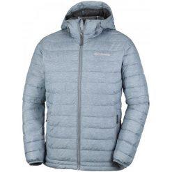 Kurtki sportowe męskie: Columbia Kurtka Zimowa Powder Lite Hooded Jacket Grey Ash Print S