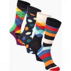 Happy Socks - Skarpety męskie pakowane po 4 szt., niebieski. Niebieskie skarpetki męskie Happy Socks, w kropki. Za 149,95 zł.