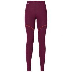 Odlo Spodnie Pants long X-WARM bordowe r. L. Czerwone spodnie sportowe damskie marki Odlo, l. Za 174,93 zł.