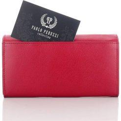 PORTFEL DAMSKI PAOLO PERUZZI CZERWONY. Czerwone portfele damskie Paolo Peruzzi. Za 99,90 zł.