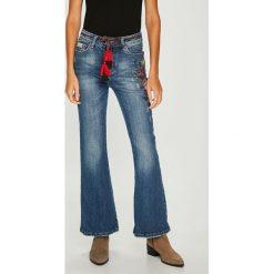 Answear - Jeansy. Niebieskie jeansy damskie z wysokim stanem ANSWEAR. W wyprzedaży za 119,90 zł.