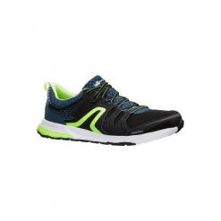 Buty męskie do chodu sportowego PW 240 czarno-żółte. Czarne buty fitness męskie marki NEWFEEL, z gumy. Za 129,99 zł.