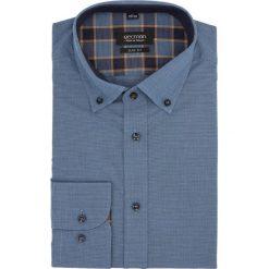 Koszula bexley 2328 długi rękaw slim fit niebieski. Szare koszule męskie slim marki Recman, na lato, l, w kratkę, button down, z krótkim rękawem. Za 89,99 zł.