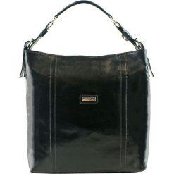 Torebki klasyczne damskie: Skórzana torebka w kolorze czarnym – (S)42 x (W)34 x (G)13 cm
