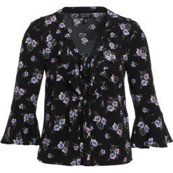 Bluzki asymetryczne: Topshop LATTICE  Bluzka black