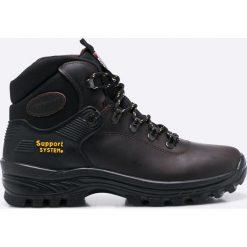 Grisport - Buty. Czarne buty trekkingowe męskie Grisport, na zimę, z materiału, na sznurówki, outdoorowe. W wyprzedaży za 249,90 zł.