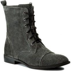 Botki NEŚCIOR - 013-F Grafit Welur. Szare buty zimowe damskie Neścior, z materiału. W wyprzedaży za 279,00 zł.