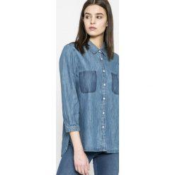 Mustang - Koszula Fancy. Szare koszule jeansowe damskie marki Mustang, casualowe, z klasycznym kołnierzykiem, z długim rękawem. W wyprzedaży za 129,90 zł.