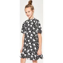 Sukienka we wzory - Czarny. Różowe sukienki dziewczęce marki Pakamera, z długim rękawem, długie. Za 99,99 zł.