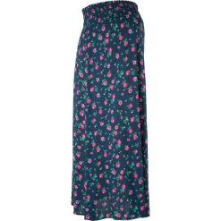 Spódnica ciążowa, długa bonprix ciemnoniebieski w kwiaty. Białe spódnice ciążowe marki QUIOSQUE, s, z haftami, z tkaniny, dopasowane. Za 49,99 zł.