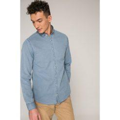 Tommy Hilfiger - Koszula. Szare koszule męskie na spinki TOMMY HILFIGER, l, z bawełny, z długim rękawem. W wyprzedaży za 279,90 zł.