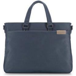 Torba w kolorze granatowym - (S)38 x (W)29 x (G)6 cm. Niebieskie torby na laptopa marki Wittchen, w paski, z materiału. W wyprzedaży za 175,95 zł.