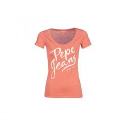 T-shirty z krótkim rękawem Pepe jeans  ANDREA. Brązowe t-shirty damskie Pepe Jeans, l, z jeansu. Za 109,00 zł.