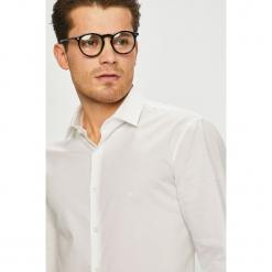 Calvin Klein - Koszula. Szare koszule męskie na spinki Calvin Klein, z bawełny, z klasycznym kołnierzykiem, z długim rękawem. Za 299,90 zł.