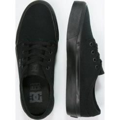 DC Shoes TRASE Tenisówki i Trampki black. Czarne tenisówki damskie DC Shoes, z materiału. Za 259,00 zł.