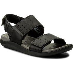 Sandały CLARKS - Garratt Active 261324127 Black Leather. Czarne sandały męskie skórzane Clarks. W wyprzedaży za 259,00 zł.
